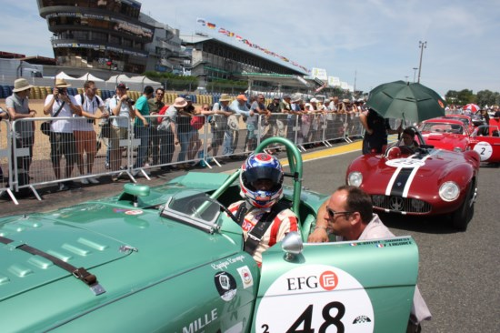 Franck Lagorce soutient le circuit de Charade