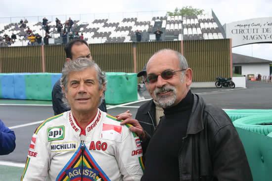 Giacomo AGOSTINI à Magny-Cours en 2005