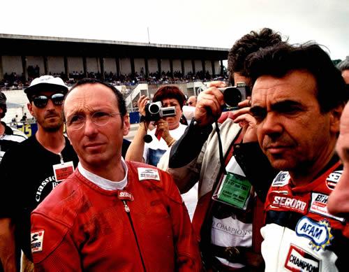 Guy BERTIN et Eric SAUL à MONTHLERY en 2001