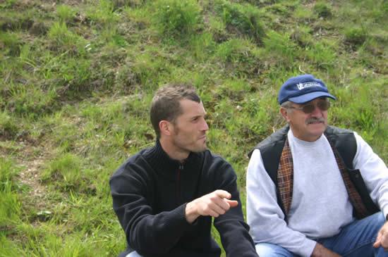 Olivier ENJOLRAS et son père à Charade