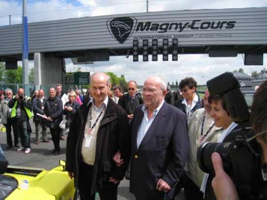 Tico Martini soutient le Circuit de Charade