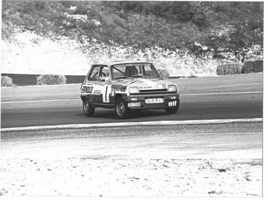 ZURINI en course en 1976 - Circuit non précisé