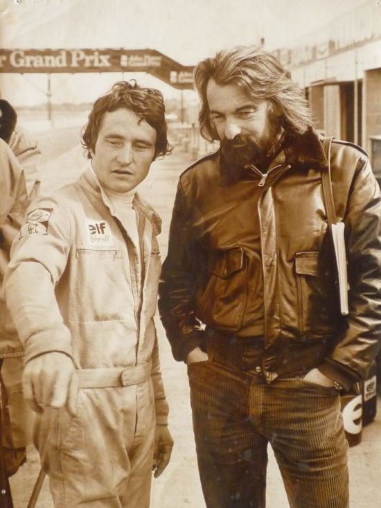 Johnny RIVES en compagnie de Patrick Depailler