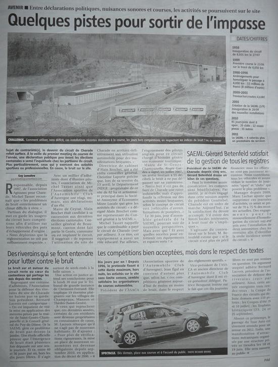 La Montagne - 13 mai 2011